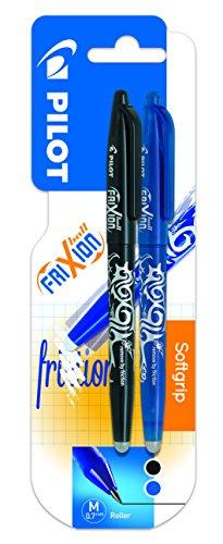 Pilot Spain Frixion Ball – Bolígrafo borrable, 2 unidades, color azul y negro