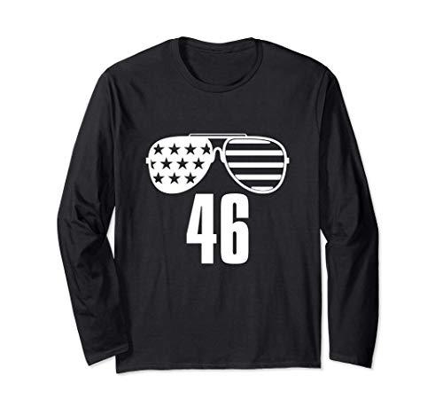 46 Biden 46a gafas de sol de la bandera estadounidense Joe Manga Larga