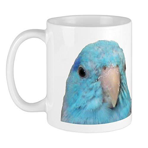 CafePress blau sperlingspapagei Tasse, keramik, Weiß, Größe S