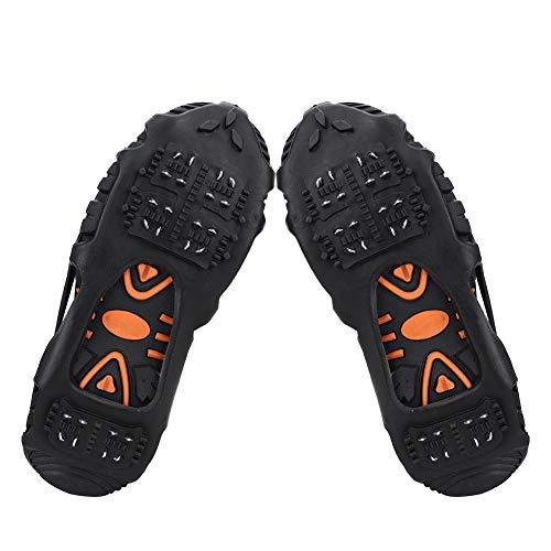 XINL Climbing Spikes Steigeisen, Skischuh Leichtes Anti-Rutsch-Schneegriff mit 24 Zähnen, tragbares Universal-Klettern für Stiefel Wanderschuhe(XL: 43-45)