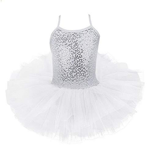 ESHOO Kinder Mädchen Pailletten Leibchen Ballett Tutu Kleid Ballerina Trikot Outfit Dance Wear Kostüme für 3-8 Jahre