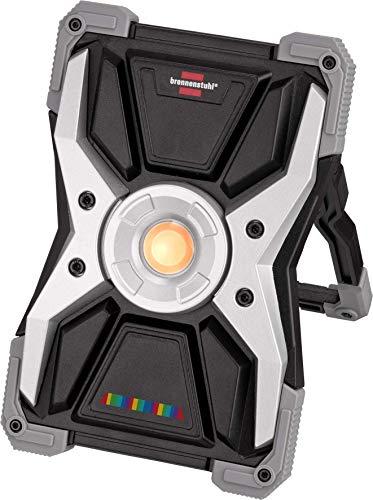Brennenstuhl Akku LED Arbeitsstrahler RUFUS 15CRI 96 / LED Arbeitsleuchte mit high CRI Licht / Detailing Light (2700lm, für Maler, Lackierer, Kfz und Werkstatt, Powerbank-Funktion, inkl. Ladekabel)