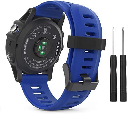Classicase Correa de Reloj Compatible con Garmin Fenix 6X Pro/Fenix 6X Sapphire/Fenix 3 / Fenix 5X Plus/5X Sapphire, Silicona Banda de Reemplazo Pulsera (Pattern 2)