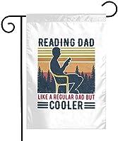 通常の庭の旗のようにお父さんを読む12x18両面ファーム芝生屋外装飾ガーデンバナー
