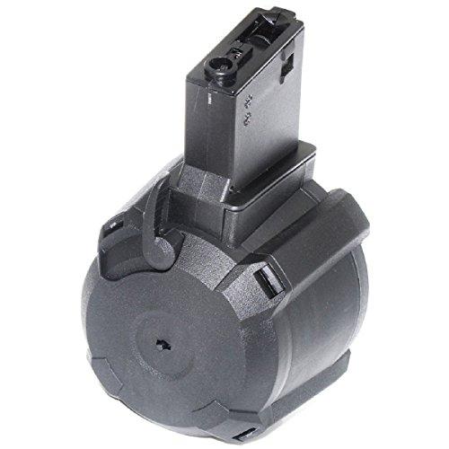 Airsoft Softair Ersatzteile Battleaxe 1400rd elektrische Trommel Mag Drum Magazine für 416 M4 M16 AEG