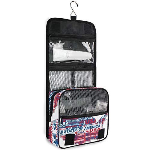 DEZIRO Wash Gargle Bag Kaart Van De VS Cosmetische Tassen met Kwaliteit Rits Reizen Make-up Tassen