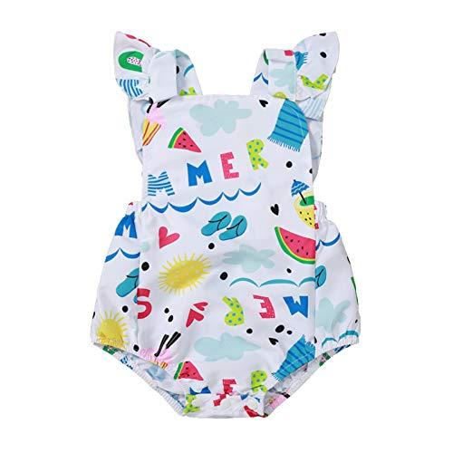 Pistazie - Conjunto de camiseta con tirantes y pantalón corto para niña, talla alta, diseño floral sin mangas, vestido para bebé niña verano sin mangas con lazo blanco Small