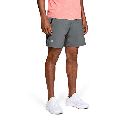 Under Armour Men's Launch SW 7'' Shorts, Pitch Gray//Reflective, Large