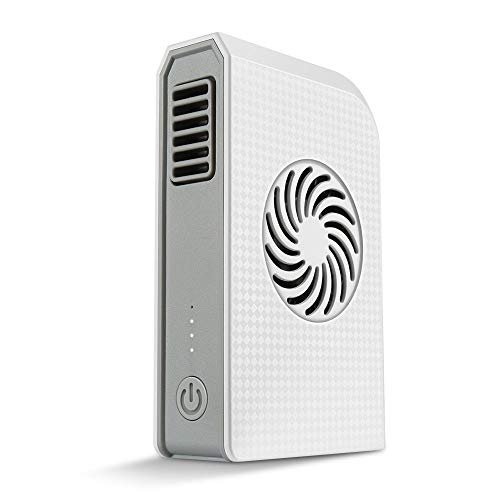 BaiSuiLiang Small Personal Fan with 6000mAh Power Bank, Mini Handheld USB Desk Fan and Portable Charger, Best Using in Travel, School, Office, Kitchen, Outdoor Sport, Camping Equipment. (White)