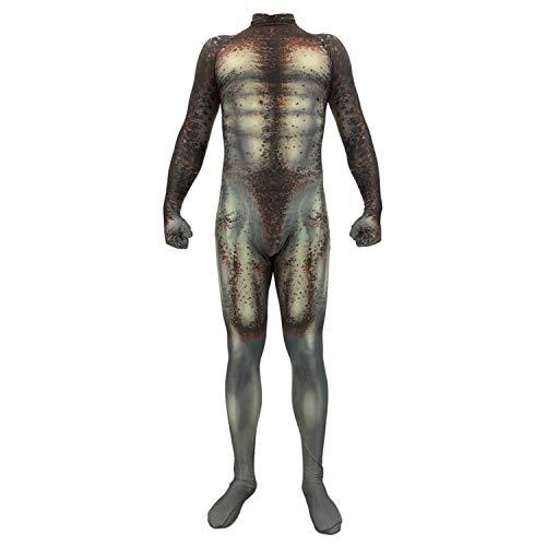 Gesikai01 Predator Cosplay Costumes 3D Printed Spandex Zentai Bodysuit Jumpsuits for Adults Kids (Kid-Medium)
