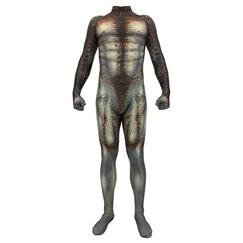 Gesikai01 Mens Boys The Predator Cosplay Halloween Costumes Lycra Zentai Suit Bodysuit Jumpsuit for Adults Kids (Adult-Medium (Height 59-63 inch)) Green