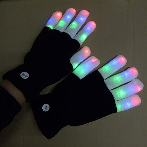 Balai 7 Blinkmodi LED-Blinkhandschuhe, Beleuchten Sie Finger-Beleuchtung-WeihnachtsTanzhandschuhe für Party-Rave