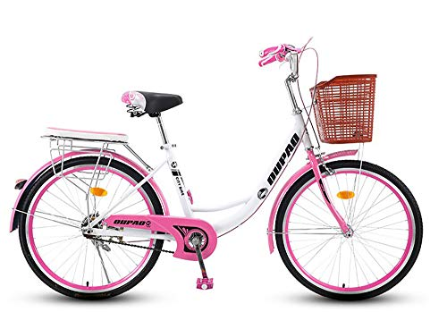 TaoRan Bicicleta de Mujer, Bicicleta Urbana de Aluminio,