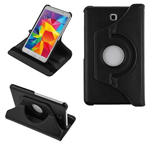 COOVY® 2.0 Cover für Samsung Galaxy TAB 4 7.0 SM-T230 SM-T231 SM-T235 Rotation 360° Smart Hülle Tasche Etui Hülle Schutz Ständer | schwarz
