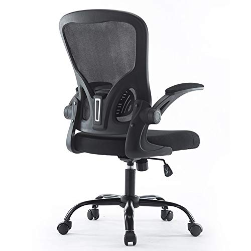 GXYAS Büro Computer Drehstuhl, Home Drehstuhl Liege, Ergonomischer Büro-Computer-Stuhl, Hauptdrehstuhl-Spiel-Stuhl-Schreibens-Stuhl-Rückseiten-Kursteilnehmer-Schreibtisch-Stuhl-Black