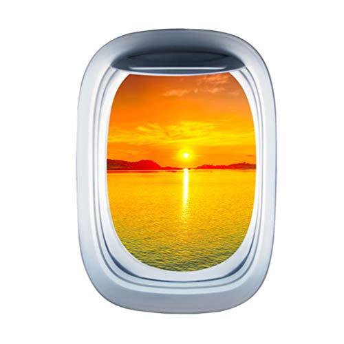 Garneck Flugzeug Fenster Wandaufkleber Flugzeug Flügel Aufkleber Bullauge Flugzeug Fenster haftet Flugzeug Aufkleber Luftfahrt Wand Dekor Wohnkultur