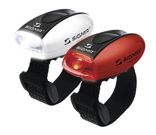 Sigma Sport Micro Combo - Juego de luces led (con banda de velcro para deportes), color rojo y blanco