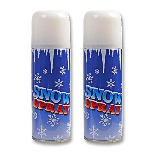 Pro Elec 2x Christmas Snow Spray 250ml Artificial Fake Xmas Tree Window Frost Decoration