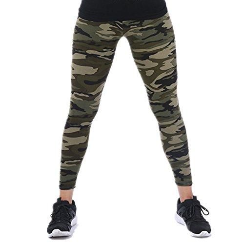 Tamskyt Damen-Leggings mit Camouflage-Aufdruck. Gr. One size , armee-grün