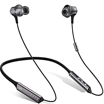 Digital Noise Cancelling Earbuds- FIIL Wireless Neckband Headphones Premium Sound with Balanced Armature Knowles Driver Monitoring Mode in-Ear Bluetooth Earphones for iPhone and Android
