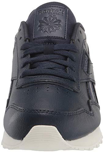 Reebok mens Reebok Classic Harman Run Sneaker, Vector Navy Mel/Boulder Brown/Chalk, 8 US