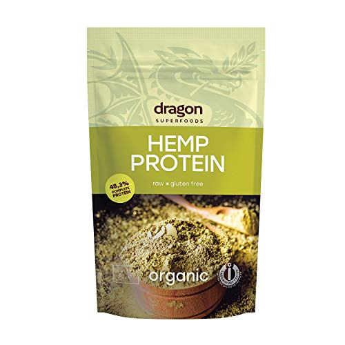 Dragon Superfoods HEMP Seeds Vegan Protein Powder. 100% Bio Organic Plant Based Soy and...