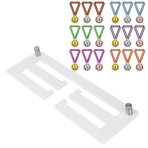 Zerodis Inicio Colgador de medallas Colgador de exhibición de medallas Premio de acrílico Soporte de Pared para medallas Estante de exhibición para Colgar medallas