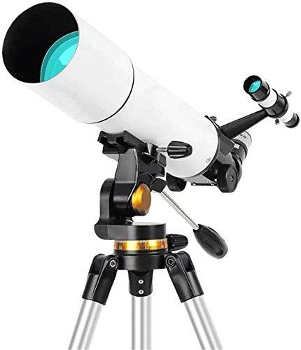 IF.HLMF Telescopio astronómico Refractor portátil para Principiantes para niños y Adultos y Accesorios incluidos telescopio Principiante Ajustable para niños y Adultos