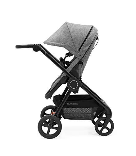 STOKKE® Beat™ Stroller - ultrakompakt Kinderwagen mit Verdeck und großer Einkaufsablage - Farbe: Black Melange