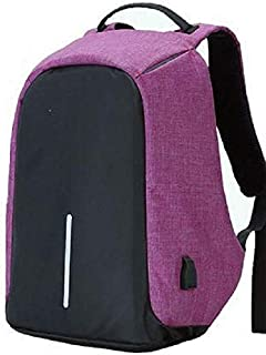 Anti-theft travel backpack large capacity waterproof nylon laptop bag USB charging shoulder bag college students bag [AB]