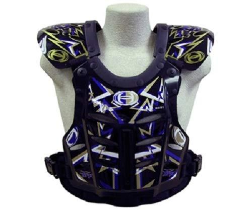 HRP Flak Jak IMS kids Chest Protector motocross chest protector blue gold kids 95-125 lbs