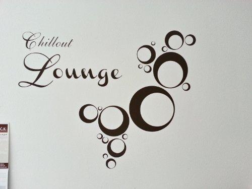 DD Dotzler Deisgn - Chillout Lounge - 90 x 50 cm - Wandtattoo, Farbe: Silber-metallic