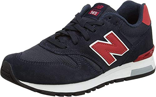 New Balance Herren 565 Sneakers, Mehrfarbig (Navy/Red), 44 EU