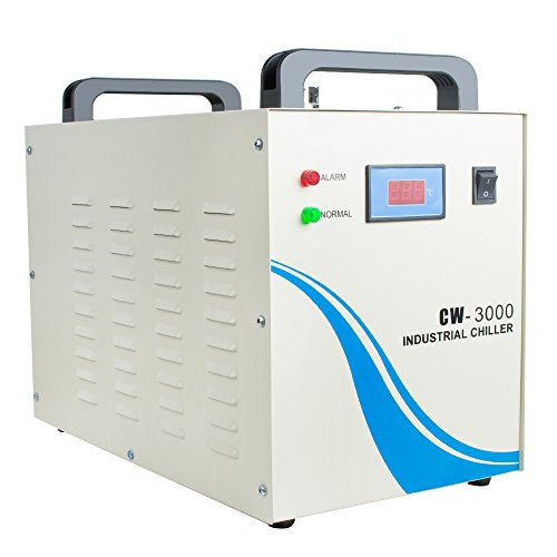 Ovovo 110V Industrial Water Chiller CW-3000 Water Cooling Chiller For CNC/Laser Engraver Engraving Machine(9L)
