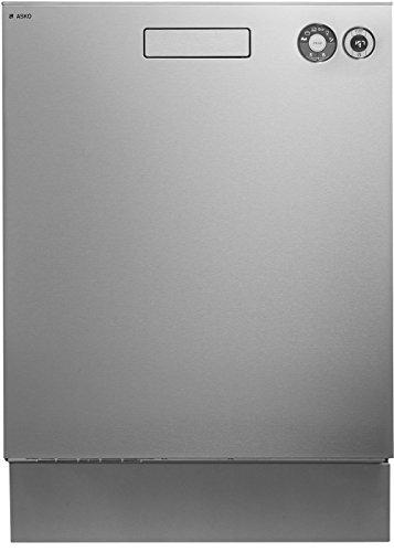 Asko D5436IS Bajo encimera 14cubiertos A++ lavavajilla - Lavavajillas (Bajo encimera, Acero inoxidable, Tamaño completo (60 cm), Acero inoxidable, Botones, 1,82 m)