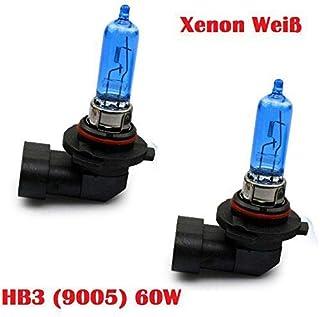 2xStück HB3 60W   9005   P20d   12V Xenon Optik Lights   Halogen Auto Lampen für Abblendlicht Fernlicht Zusatzscheinwerfer und Nebelscheinwerfer/chiavi