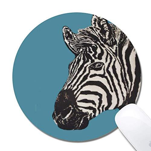 Mauspad - Niedliche Mausmatte für Laptop Natürliche rutschfeste benutzerdefinierte Zebrabild Kleine Gaming Office Mauspadmatte für Kinder / Erwachsene (7,87 'x 0,12')
