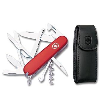 Victorinox Swiss Army Huntsman Pocket Knife w/ Pouch Red 91mm