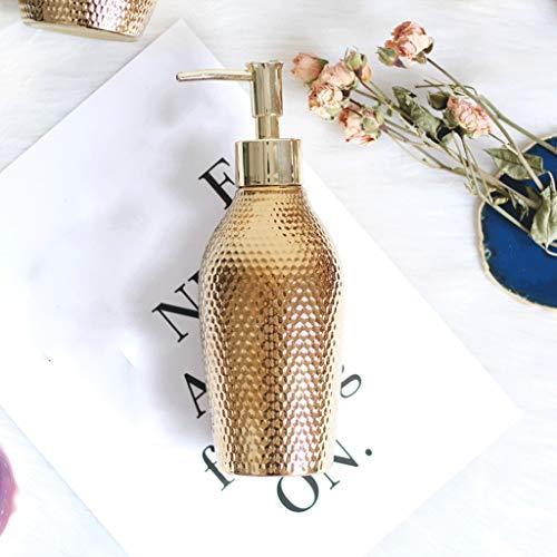 Oro Cerámica Creativa dispensador de jabón con Bomba de Mano Botella de desinfectante loción Tarro Artículos for Botellas de líquido for baño