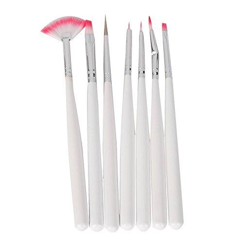 Warm Girl 7 Pcs Nail Art Design Detailing Drawing Paint Painting Brushes Dotting Pen Set Kit White by Warm Girl