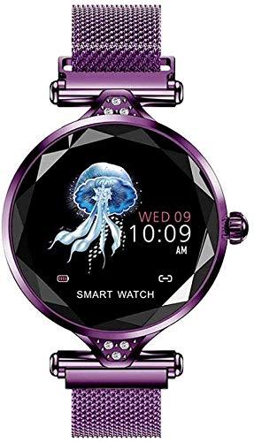 Reloj Inteligente Dispositivo Usable Bluetooth Podómetro Monitor de Ritmo Cardíaco para Android/iOS Pulsera Inteligente Uso Diario-A-C-D