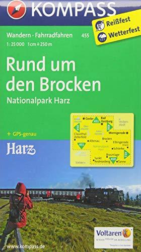 Rund um den Brocken - Nationalpark Harz 1 : 25 000: Wanderkarte mit Radrouten. GPS-genau (KOMPASS-Wanderkarten, Band 455)