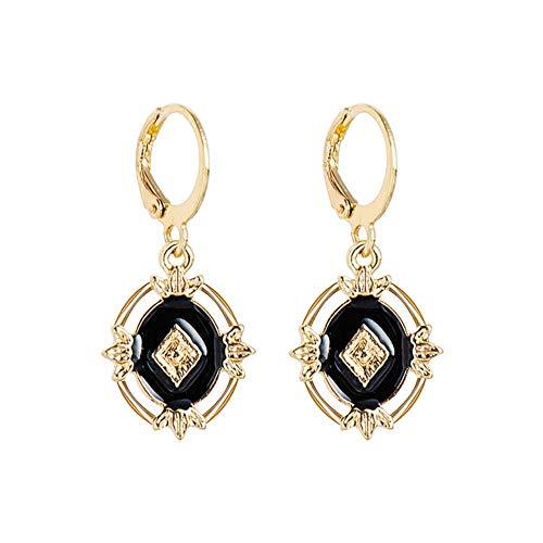 LEIXNDPLBO Oorringen voor vrouwen Gouden munt Kruis Kleine ogen Kleine oorbellen met strass Minimalistische sieraden, stijl 9