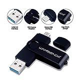 Clé USB 64GO OTG USB Flash Drive 3.0 pour appareils Android/PC/Tablette/Mac (64Go,Noir)