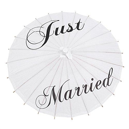Zerodis 33 Inch Papier Parasol Wit Papier Paraplu voor Bruiloft Party Bruidsdecoratie Fotografie Art Display