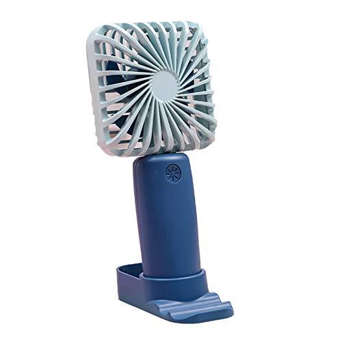 YSHTAN Color sólido ultra silencioso de los ventiladores eléctricos del verano de los ventiladores eléctricos del pie conveniente para viajar cuadrado rosado