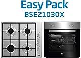 BEKO BSE21030X Conjunto Clase energética, Acero INOX, Horno Ancho 60 cm y Placa de Gas Ancho 58 cm