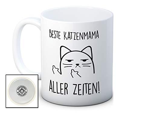 Beste Katzenmama Aller Zeiten! - Unhöfliche Katze Cat Mug - Lustig Hochwertigen Kaffeetasse Becher - Großartiges Muttertag Geschenk