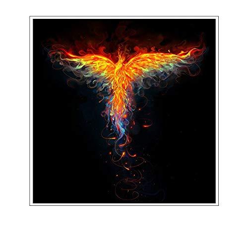Leinwand Bild,Tier Brand Phoenix, Poster Und Drucke Modulare Wand Bild, Home Decor Einfache Kunst Wandbilder Bild Foto Ausdrucken Wand Für Wohnzimmer, Schlafzimmer, Hotel, Speisesaal, Cafe, Etc.