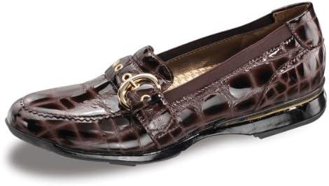 Aetrex Women's Nancy Loafer Diabetic Shoes,Brown Leather,10 W US